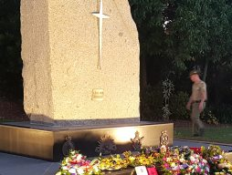 Wreaths laid at the Thuringowa war memorial