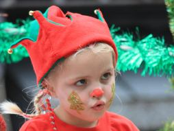 Child in Christmas costume